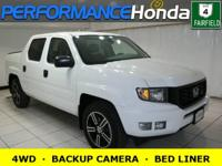 *HIGHLIGHTS INCLUDE:* 4WD, BACKUP CAMERA, a BED LINER,