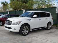 This Moonlight White 2014 INFINITI QX80 Base might be