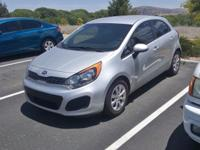 Clean CARFAX. 2014 Kia Rio LX Silver FWD 6-Speed Manual