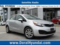 This front wheel drive used 2014 Kia Rio LX features a