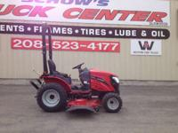 2014 Mahindra eMax 22 Gear 22HP 4WD Tractor with Mower