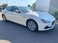 Bianco 2014 Maserati Ghibli RWD ZF 8-Speed Automatic
