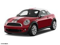 2014 MINI cooper S Coupe!  Certified Pre Owned!