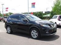 CARFAX One-Owner. Super Black 2014 Nissan Rogue SV FWD