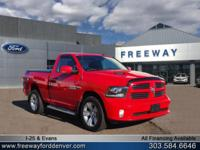 Bright Red 2014 Ram 1500 Sport 4WD 8-Speed Automatic