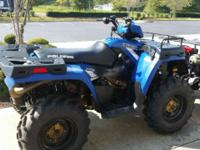 2014 Sportsman 800 blue with stock# U 601200 Clean add