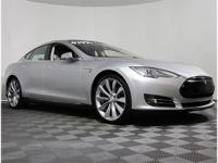 2014 Tesla Model S Silver Metallic New Price! CARFAX