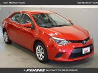 This 2014 Toyota Corolla 4dr 4DR FWD LE Sedan includes