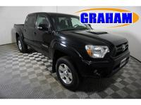 Clean CARFAX. Black 2014 Toyota Tacoma V6 4WD 5-Speed
