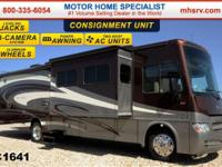 This RV is around 36 feet in length with a Ford Triton