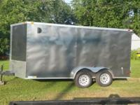 i an selling a new 2015 14 ft v nose box trailer dual