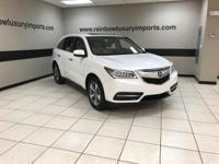 CARFAX 1-Owner, ONLY 26,910 Miles! MDX trim, White