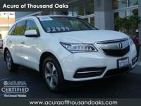 Options:  2015 Acura Mdx|White Diamond Pearl/|V6 3.5 L