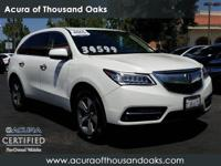 Options:  2015 Acura Mdx Base|White/|V6 3.5 L