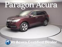 New Price! Certified. 2015 Acura MDX 3.5L CARFAX