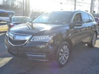 Recent Arrival! Leather. 2015 Acura MDX 3.5L Technology