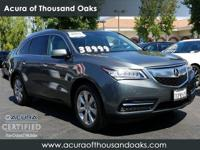 Options:  2015 Acura Mdx Advance/Entertainment