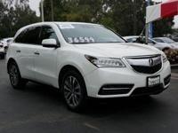 Options:  2015 Acura Mdx Tech Pkg|Aspen White Pearl/|V6