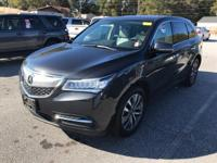 Options:  2015 Acura Mdx W/Tech W/Res|4Dr Suv