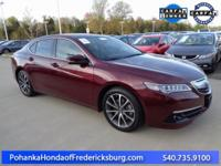 This 2015 TLX is a one owner vehicle with a clean