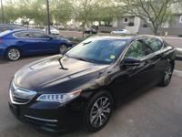 Certified.  2015 Acura TLX 2.4L 35/24 Highway/City