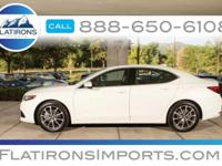 New Price! Clean CARFAX. White 2015 Acura TLX 3.5L V6
