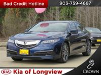 Blue 2015 Acura TLX 3.5L V6 wTechnology Package FWD