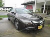 2015 Acura TLX 2.4L in Black Copper Pearl with Ebony