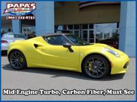 CARFAX One-Owner. Clean CARFAX. yellow 2015 Alfa Romeo