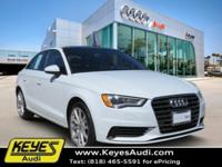 This GLACIER WHITE 2015 A3 is equipped with REAR VIEW