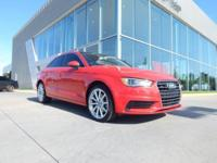 Certified. Brilliant Red 2015 Audi A3 2.0T Premium Plus