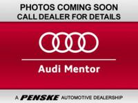 Audi Certified. GREAT MILES 22,591! CARFAX 1-Owner,