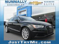 CARFAX One-Owner. Clean CARFAX. Black 2015 Audi A3 2.0T