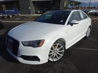 Options:  2015 Audi A3 2.0T Prestige|White|Recent
