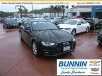 Options:  2015 Audi A4 2.0T Premium|Black|This Is The