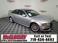 Pamper yourself in this 2015 Audi A4 2.0T Premium W/