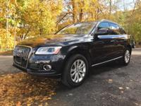 Black Leather. 2015 Audi Q5 2.0T Premium Dark Blue