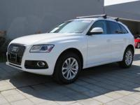 Beige Leather. Audi Certified! Low miles indicate the