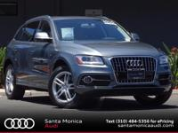 2015 Audi Q5 3.0T Monsoon Gray with Black Leather! LOW