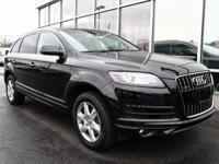 2015 Audi Q7 Black 3.0T Premium SUNROOF/MOONROOF, ALL