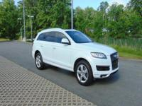 CARFAX One-Owner. Clean CARFAX. White 2015 Audi Q7 3.0T