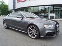 Clean CARFAX. Daytona Gray Pearl Effect 2015 Audi RS 5