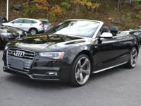 ONLY 19800 MILES....AUDI S5 CABRIO...BLACK ON BLACK