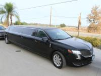 Limo: 2015 Black 5th door 120-inch Lincoln MKT Limo for