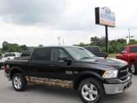 2015 Black Dodge Ram 1500 Outdoorsman Crewcab 4X4 ONE
