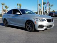 CARFAX One-Owner. Gray 2015 BMW 2 Series M235i RWD