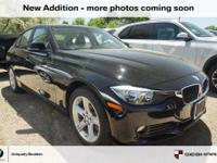 CARFAX One-Owner. Jet Black 2015 BMW 3 Series 320i
