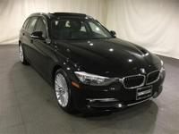 New Price! 2015 BMW 3 Series Jet Black AWD  CARFAX