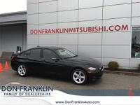 2015 BMW 3 Series 328i Jet Black CARFAX One-Owner.