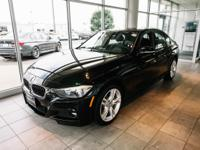 Clean CARFAX. Black Sapphire Metallic 2015 BMW 3 Series